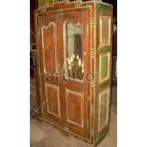 Vintage Indian Beautiful Opulent Solid Wooden Teak Almirah