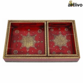 BOLD RED 3pc Tray Set