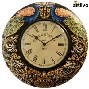 "POPART Peacock Wall Clock 12"""