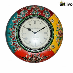 POPART Festive Multicolored 2 hands Wall clock - Roman