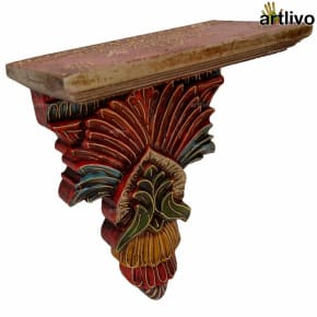 EMBOSSED Red Wall Bracket