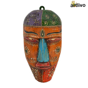 EMBOSSED Wall Hanging Mask - Orange
