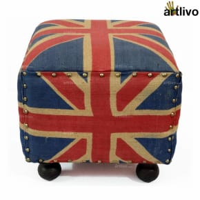 POPART Square Union Jack Stool
