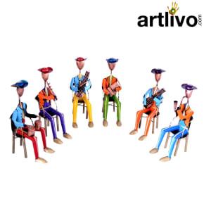6 Seating Musician Multicolor