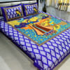 Artlivo Sanganeri Print Blue 270 x 220 cm. king Size 1 Double bedsheet with 2 pillow covers
