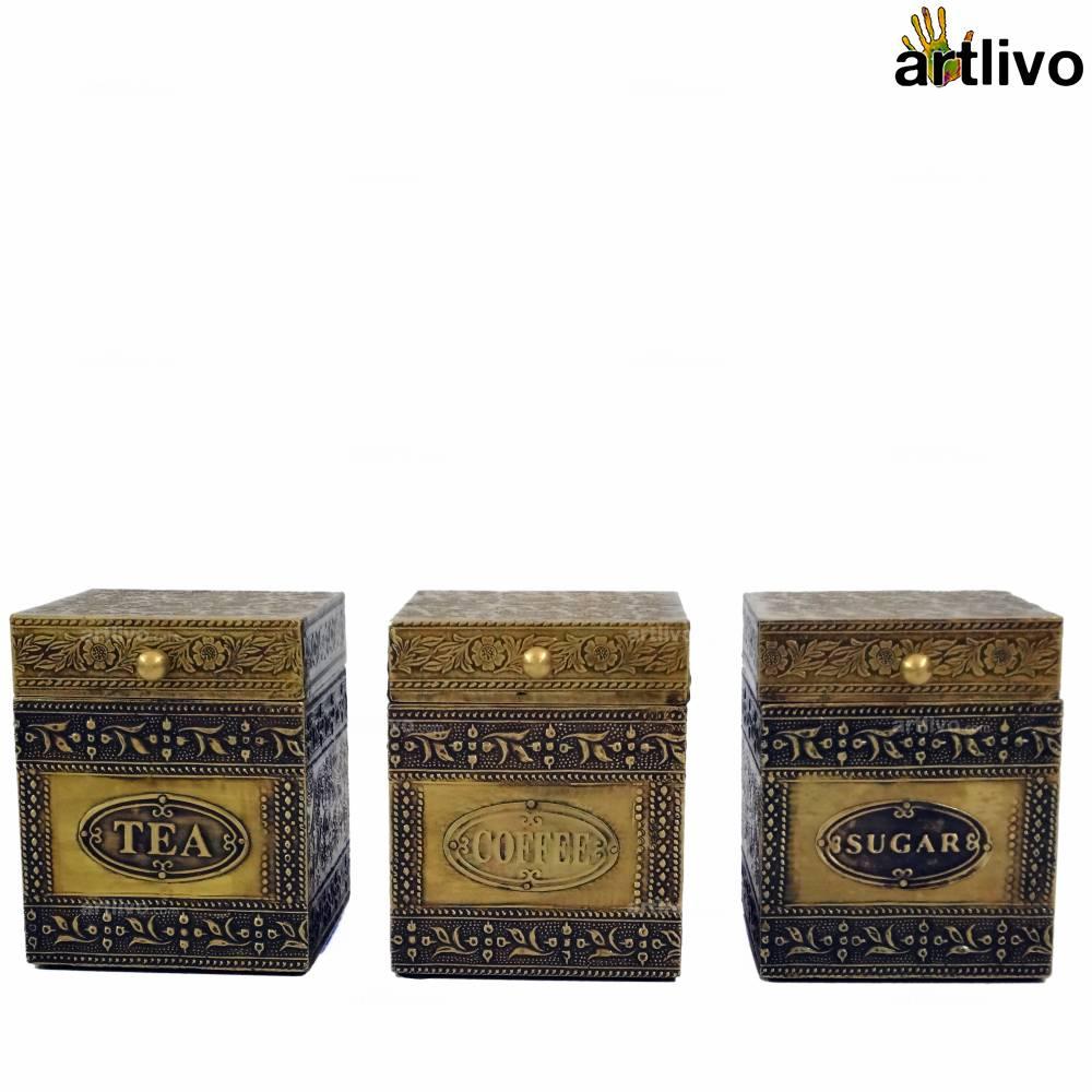 BLING Tea-Coffee-Sugar Boxes