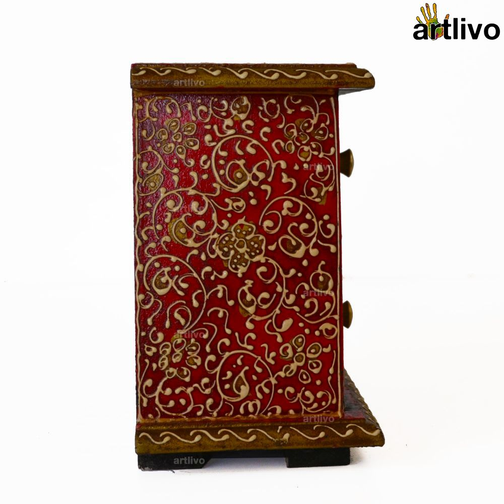 BOLD RED 2 Drawers Tapered Utility Box