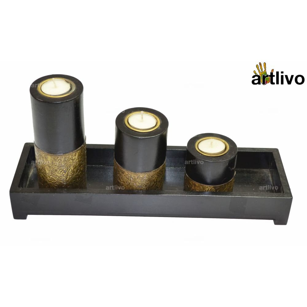 UBER ELEGANT Candle Stands with tray