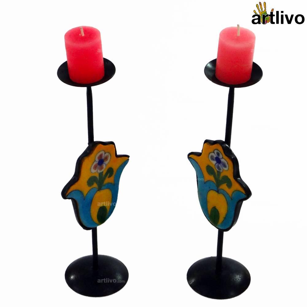 Yellow Motif Candle Set