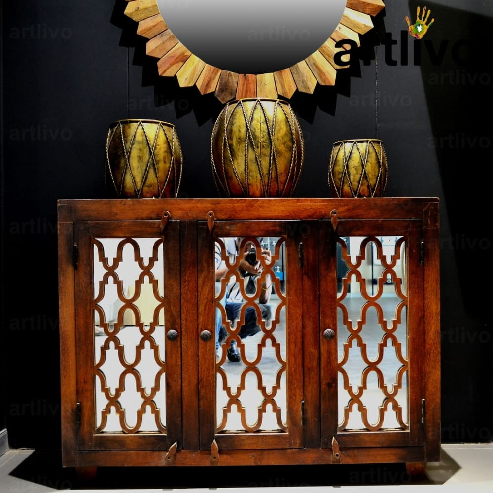 Maple Mirror Side Table