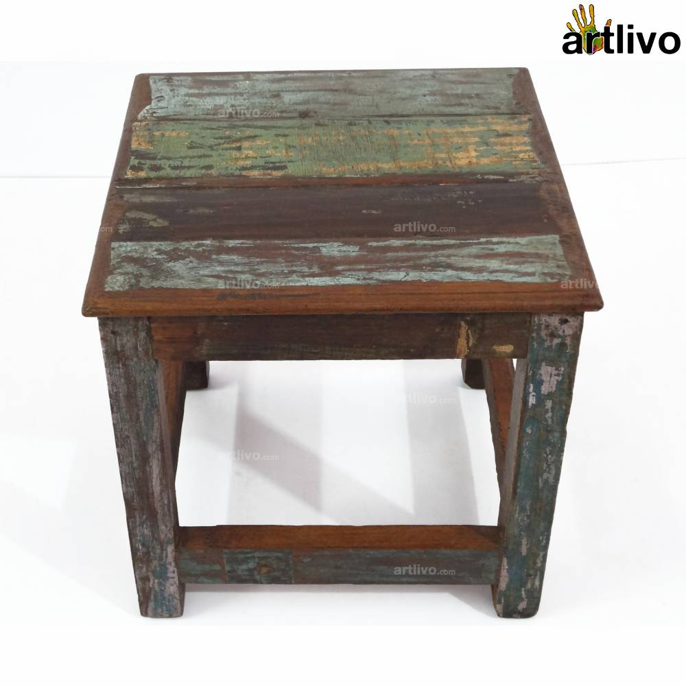 ECOLOG Assorted Wooden Large Stool