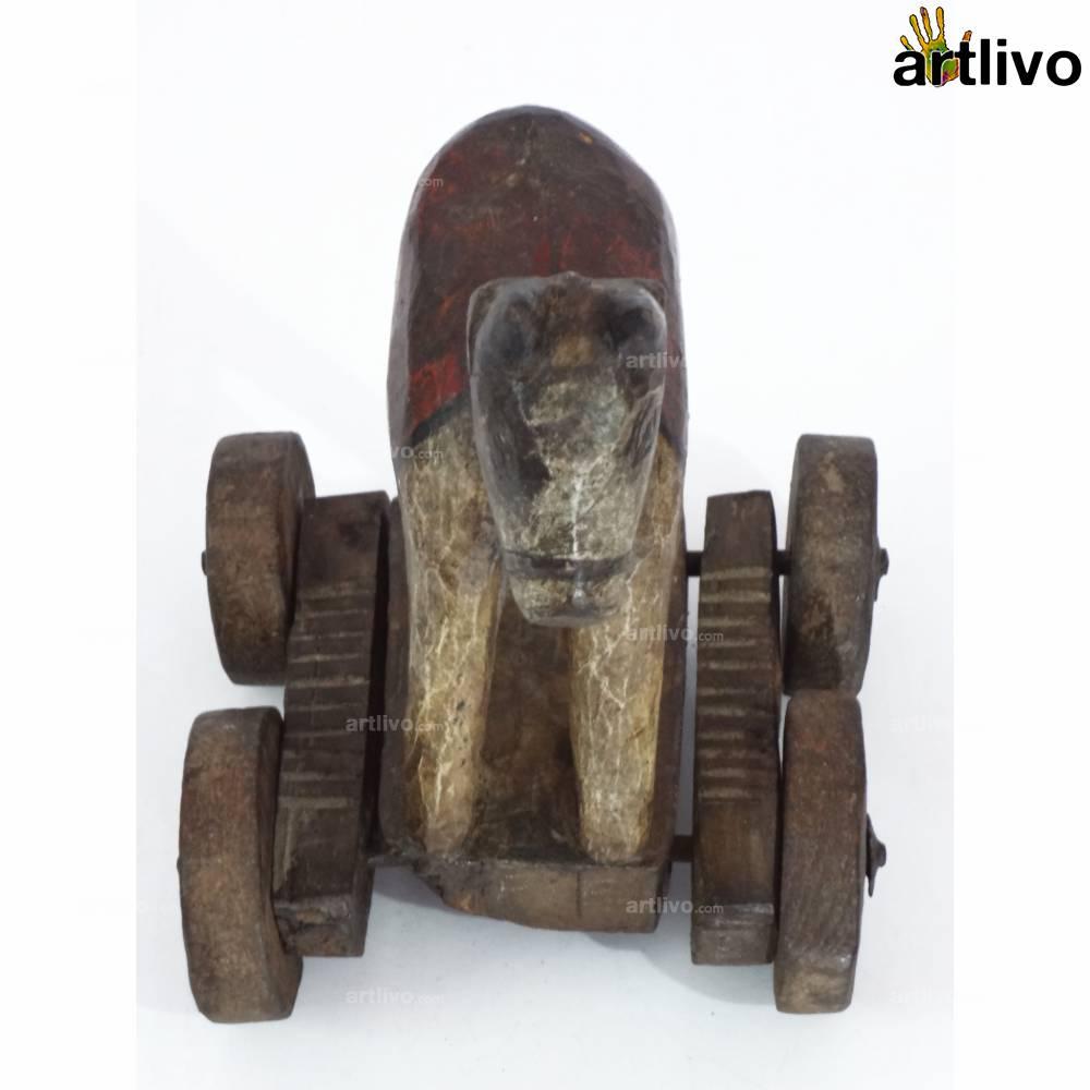 VINTAGE Toy Bullock Cart - White