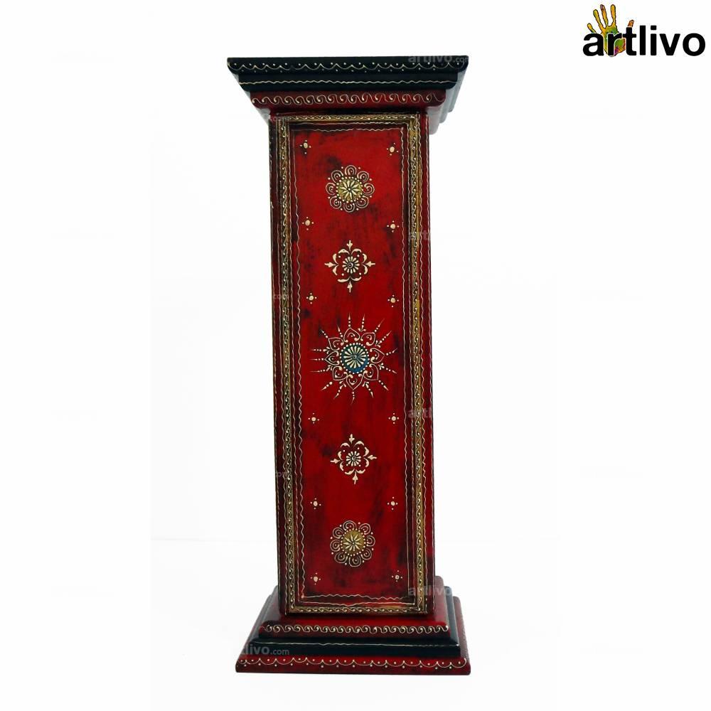 5 Drawer Pillar Table - Red