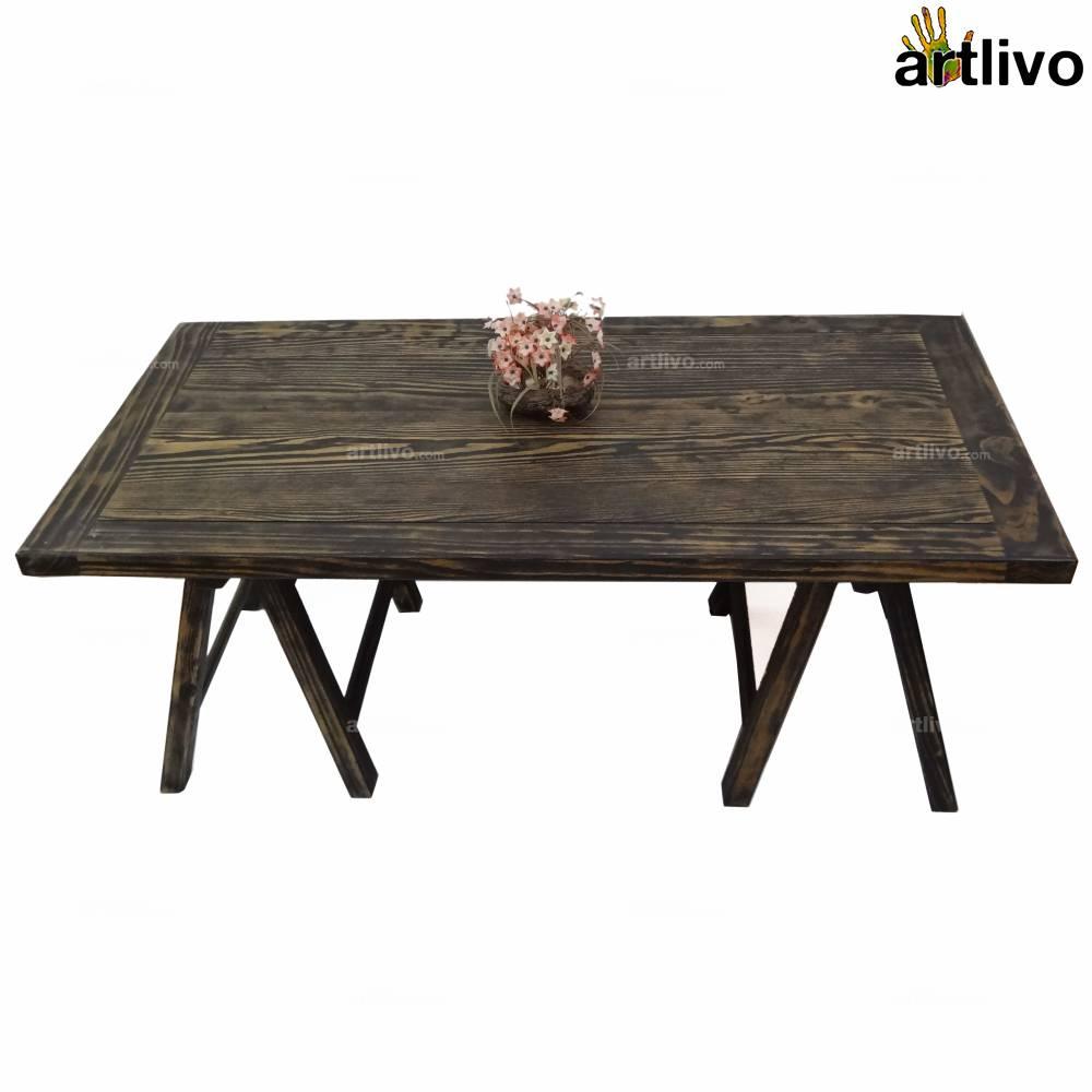 Greek Pine Wood Coffee Table