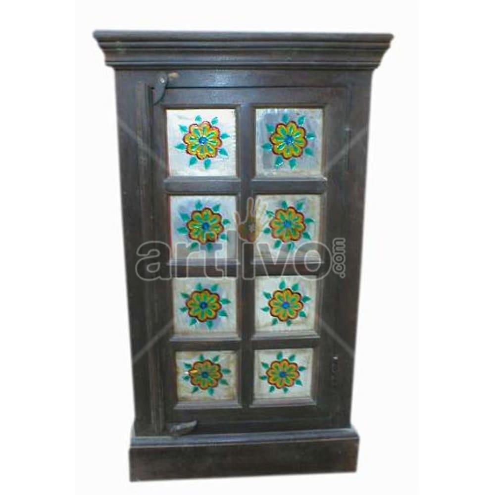 Antique Indian Beautiful Opulent Solid Wooden Teak Almirah