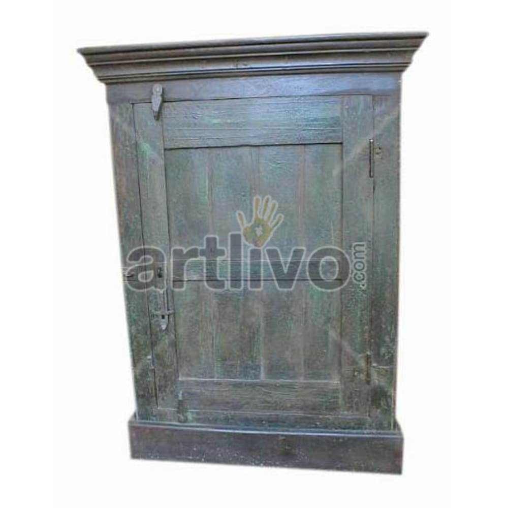 Antique Indian Brown Ostentatious Solid Wooden Teak Almirah