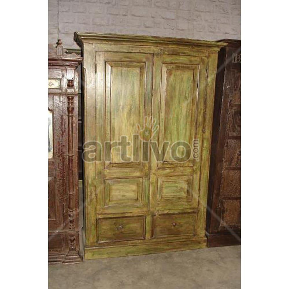 Restored Sculpted Luscious Solid Wooden Teak Almirah