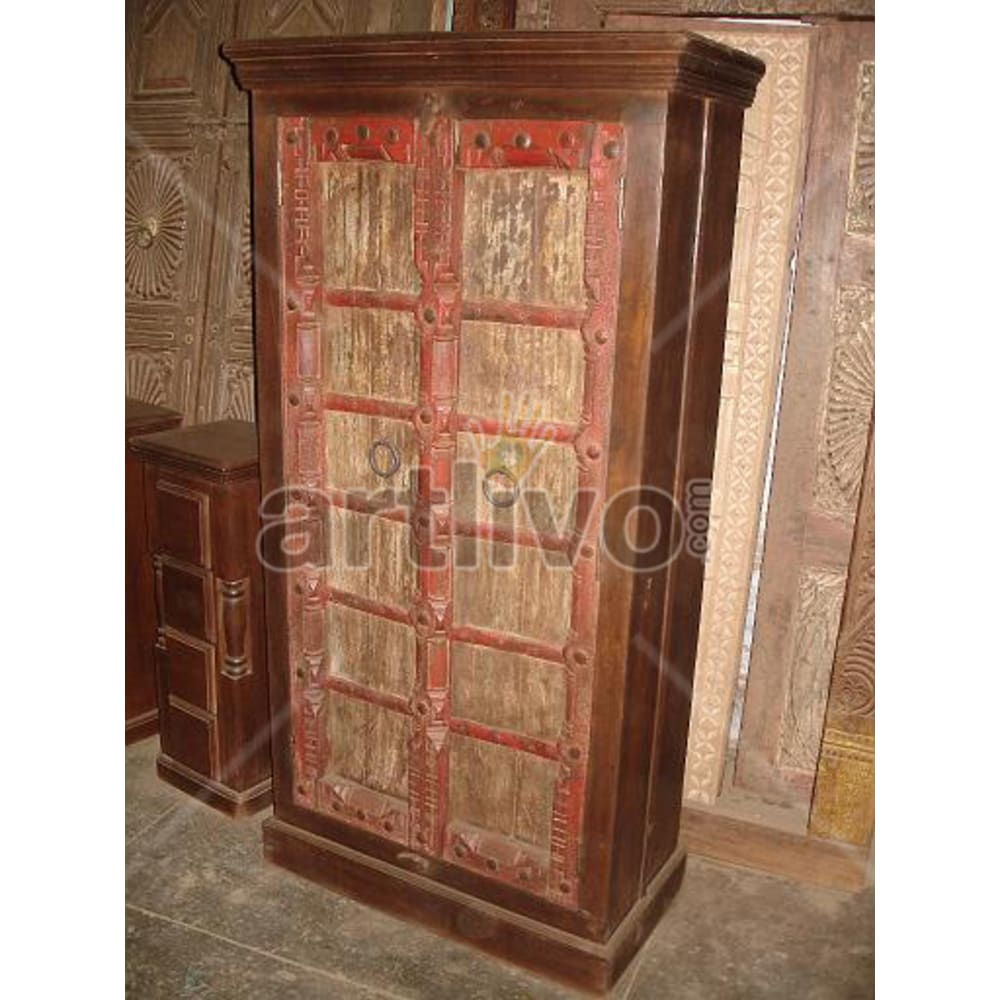 Restored Beautiful Marvellous Solid Wooden Teak Almirah