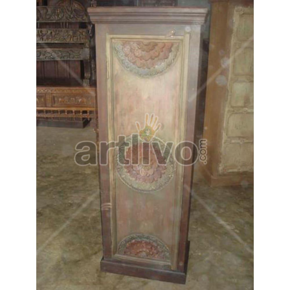 Restored Brown Supreme Solid Wooden Teak Almirah