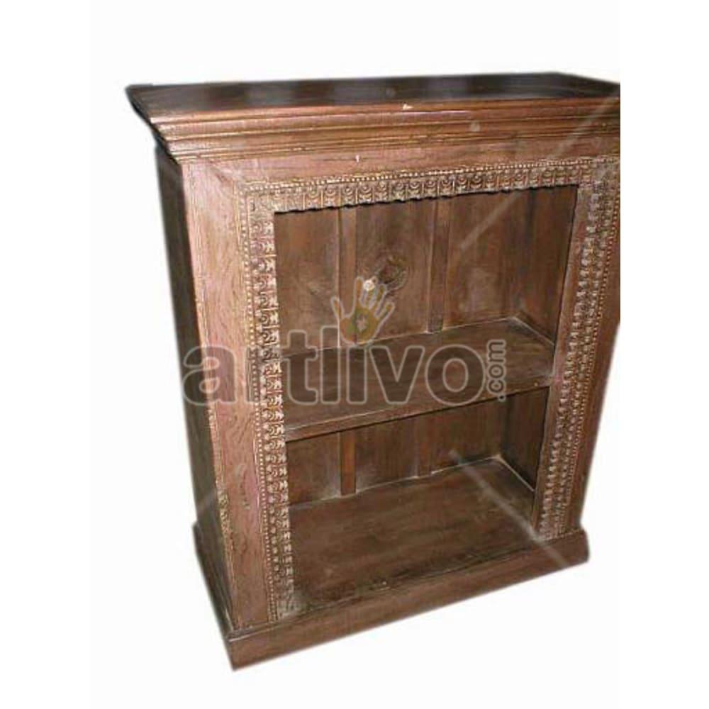 Vintage Indian Beautiful Imperial Solid Wooden Teak Bookshelf