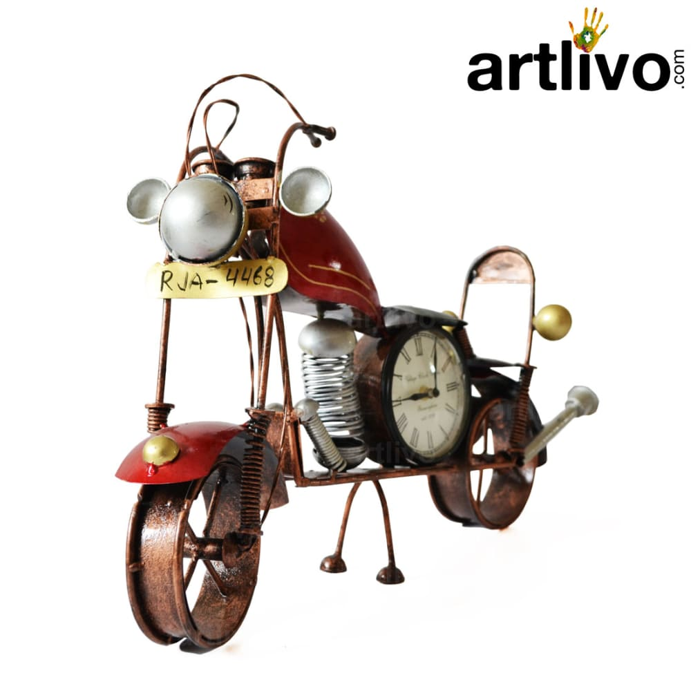 """POPART Red Bike Table Clock With 4"""" Dail"""