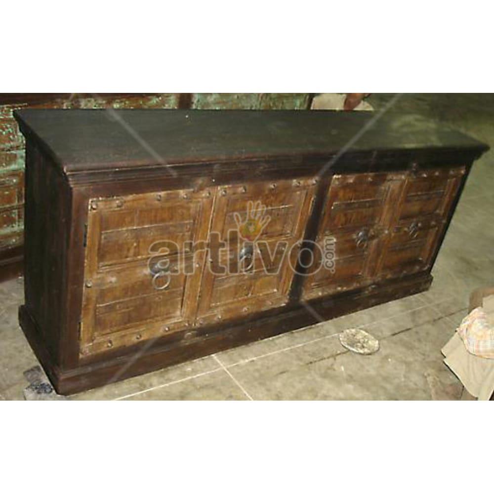 Antique Indian Carved imperial Solid Wooden Teak Sideboard