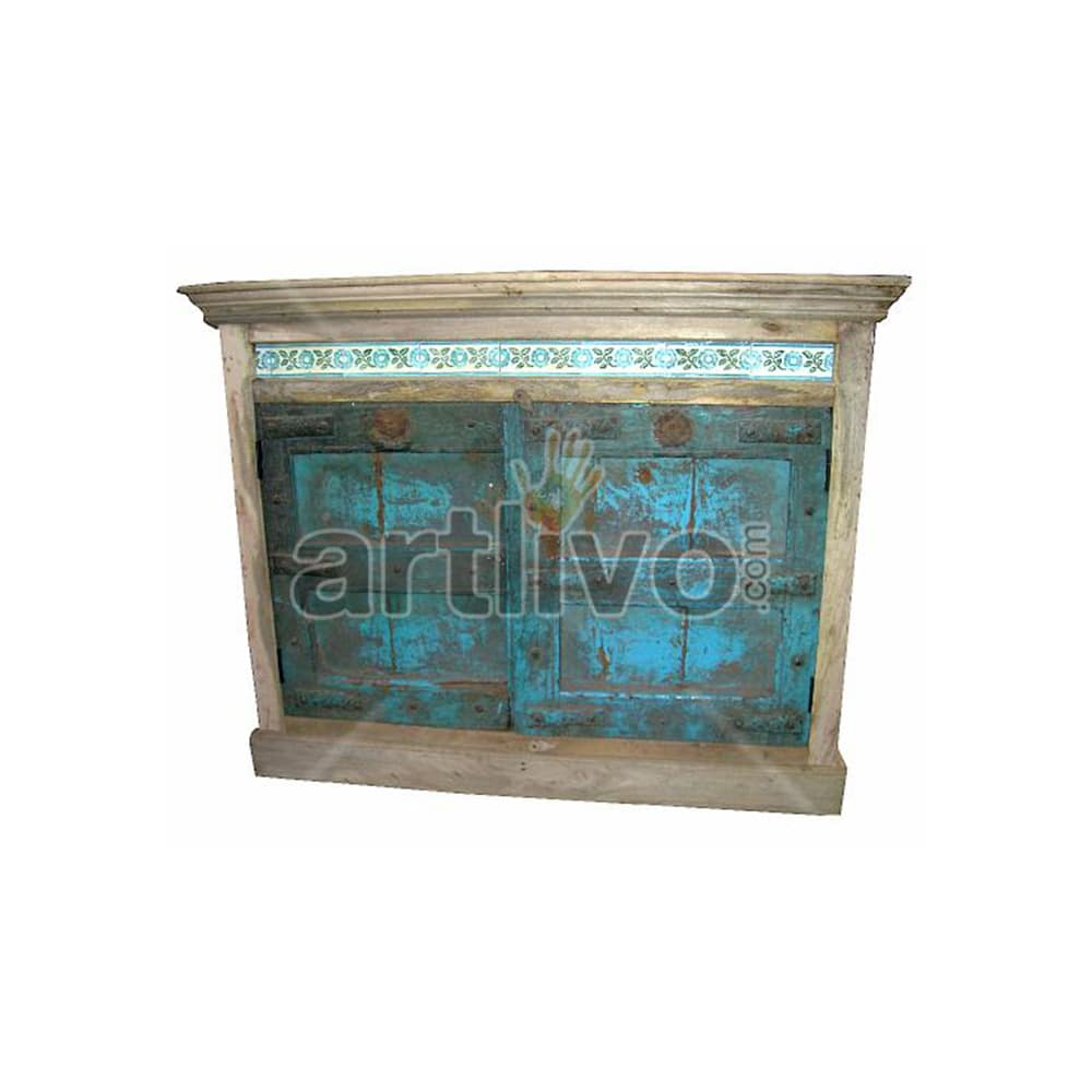 Antique Indian Sculpted Extravagant Solid Wooden Teak Sideboard