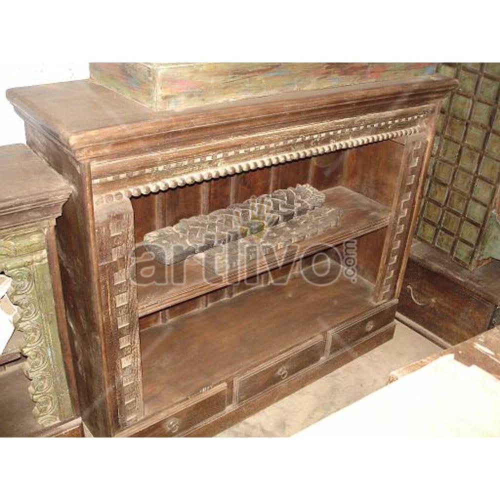 Old Indian Beautiful illustrious Solid Wooden Teak Sideboard