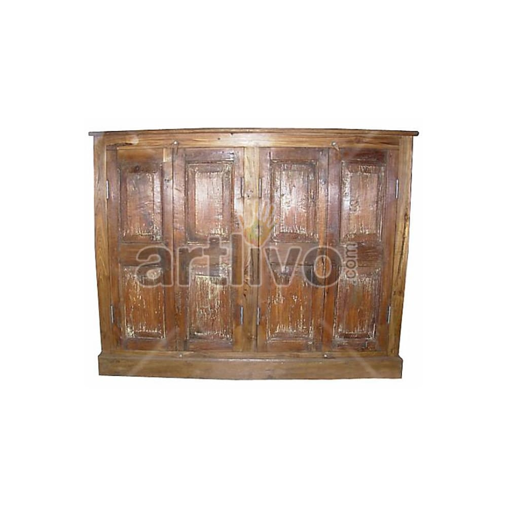 Old Indian Beautiful Superb Solid Wooden Teak Sideboard