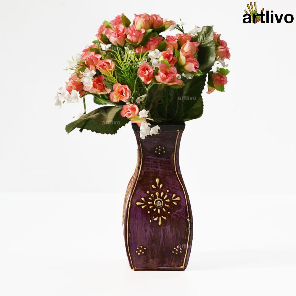 EMBOSSED Kingfisher Flower Vase