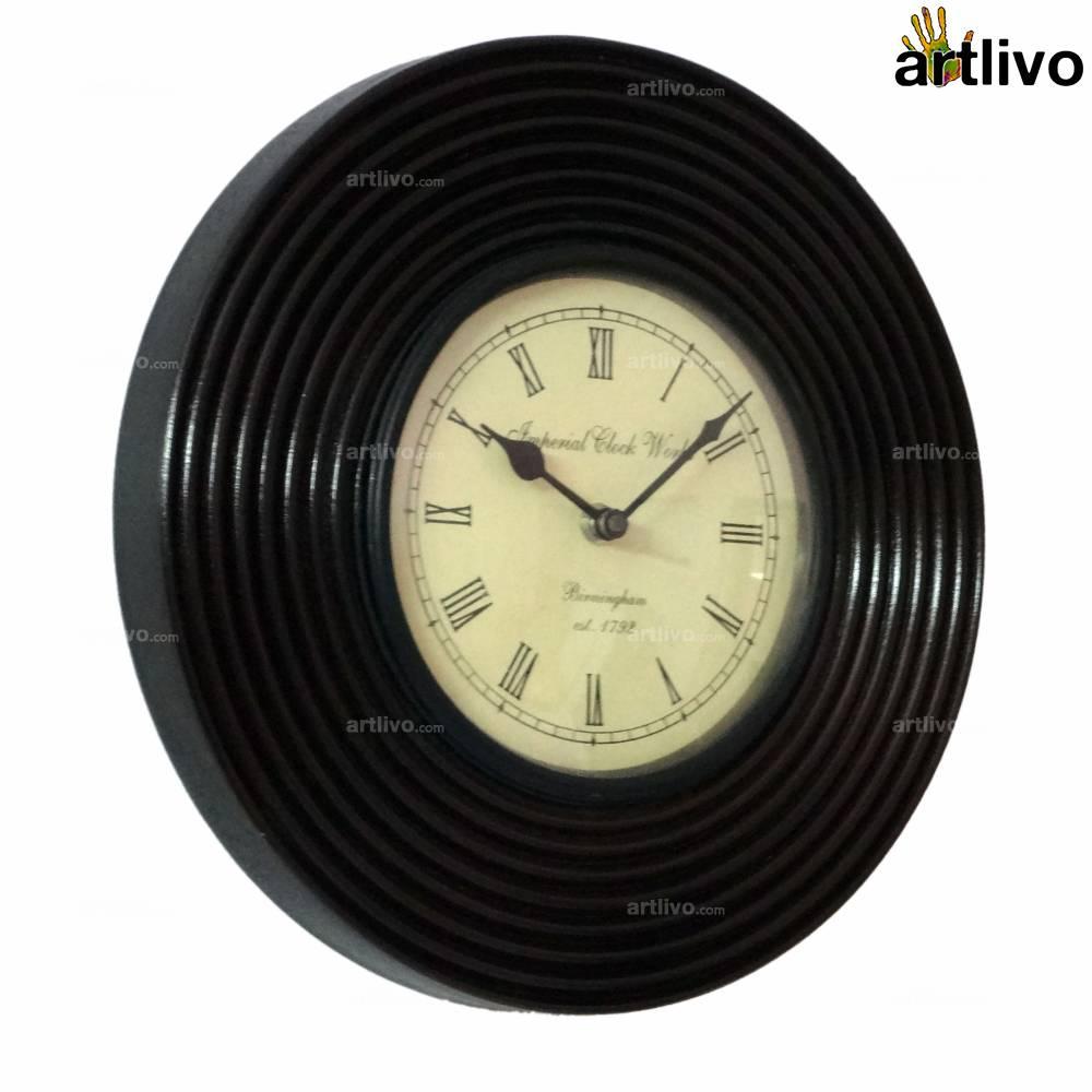 "UBER ELEGANT Ripple Round Wall Clock 12"""