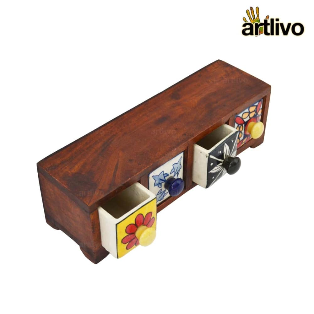 POPART Ceramic 4 Drawer Long Box - BO135