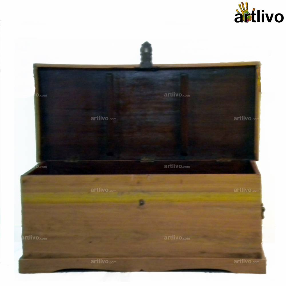 Eucalyptus Wood Chest - Medium