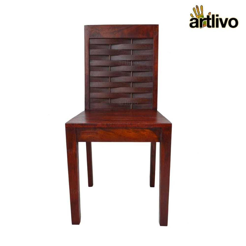 MERLOT Wooden Mesh Standard Dining Chair