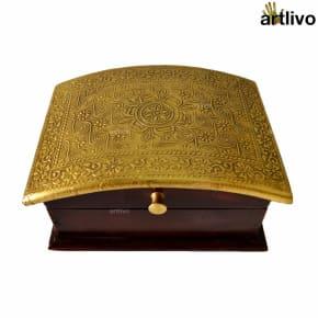 Golden Brown Jewellery Box