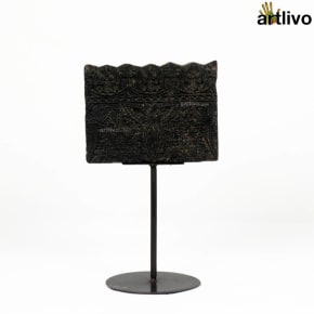 Wooden Printing Block on a stand - CU019