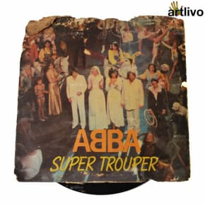 VINTAGE Gramophone Record - ABBA Super Trouper (With Cover)