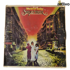 VINTAGE Gramophone Record - World of Today Supermax (With Cover)