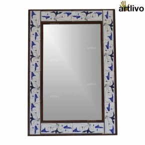 Handcrafted Decorative Bathroom Wall Hanging Tile Mirror Frame