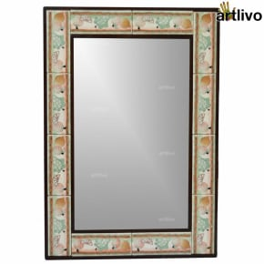 "32"" Decorative Wall Hanging Tile Mirror Frame - MR056"
