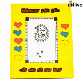 POPART Valentine Love Photo Frame - Yellow - 5*7""