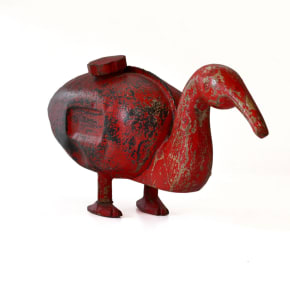 Iron duck with rustic look