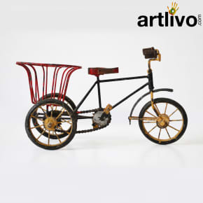Decorative cycle with basket