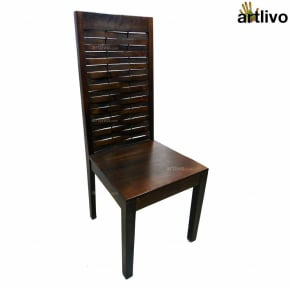 MERLOT Wooden Mesh Dining Chair