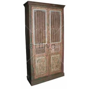 Vintage Indian Beautiful Supreme Solid Wooden Teak Almirah