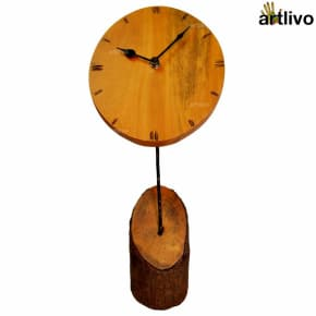 ECOLOG Raw Wooden Table Clock