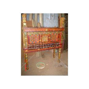 Antique Indian Beautiful Splendid Solid Wood colorfull design Trunk