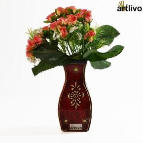 EMBOSSED Kiwi Flower Vase