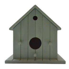 Decorative Hanging Bird House - Grey