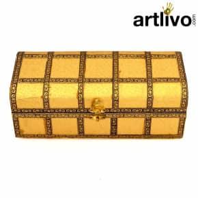 Rectangle Single Lead Bangle Box With Brass